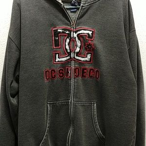 DC Men's Hooded Full Zip Sweat Jacket L